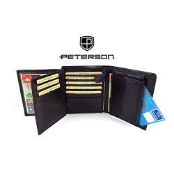 PETERSON 301 Black Portfel Męski